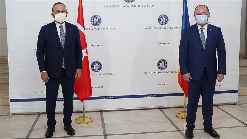 Çavuşoğlu, Rumen mevkidaşı Aurescu'yla bir araya geldi
