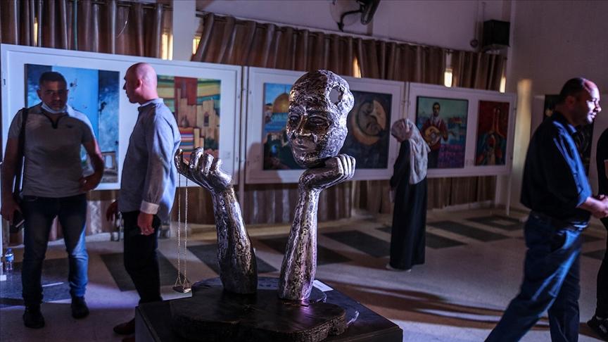 Modern sanatla İsrail işgaline dikkati çekiyor
