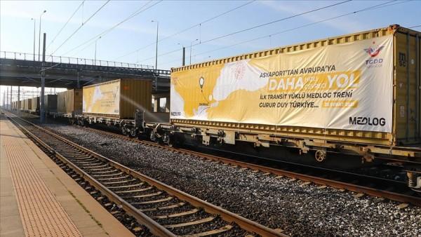 Fildişi Sahili'nden gelen yük Tekirdağ'dan trenle Avrupa'ya gönderildi