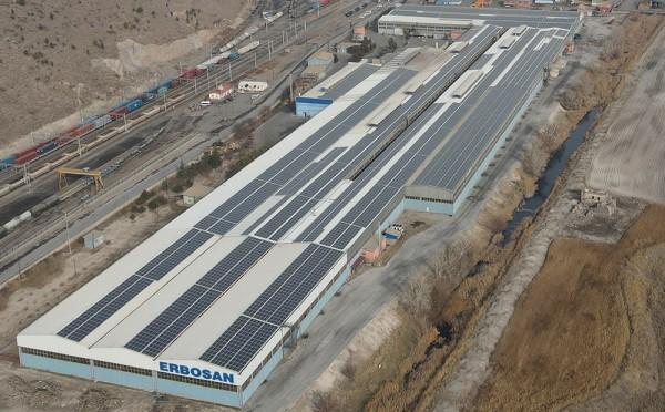 Erbosan boru güneş enerji santrali kurdu