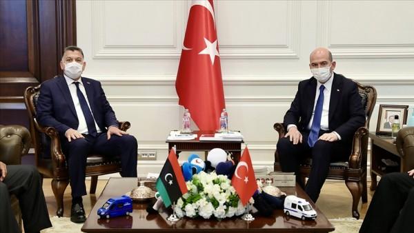 Bakan Soylu, Libyalı mevkidaşıyla bir araya geldi