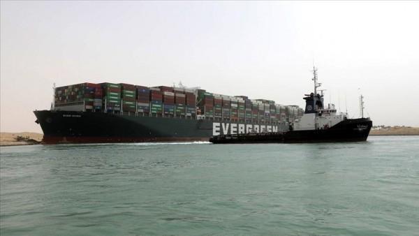 Süveyş'i tıkayan gemi için Japon firmadan tazminat talep edildi