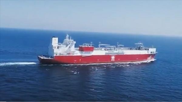 LNG depolama ve gazlaştırma gemisi Ertuğrul Gazi Türkiye'ye ulaştı