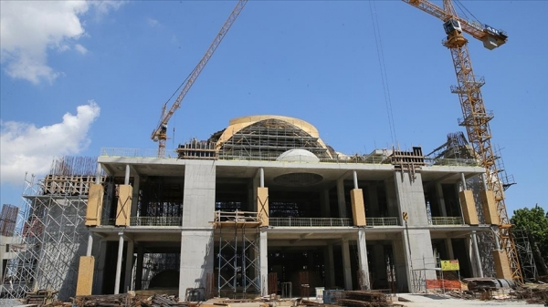 Kaba inşaatının yüzde 75 tamamlandı